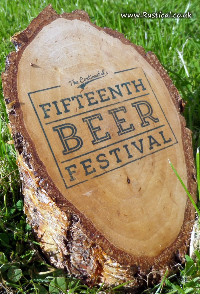 Printed log advert for Beer Festival