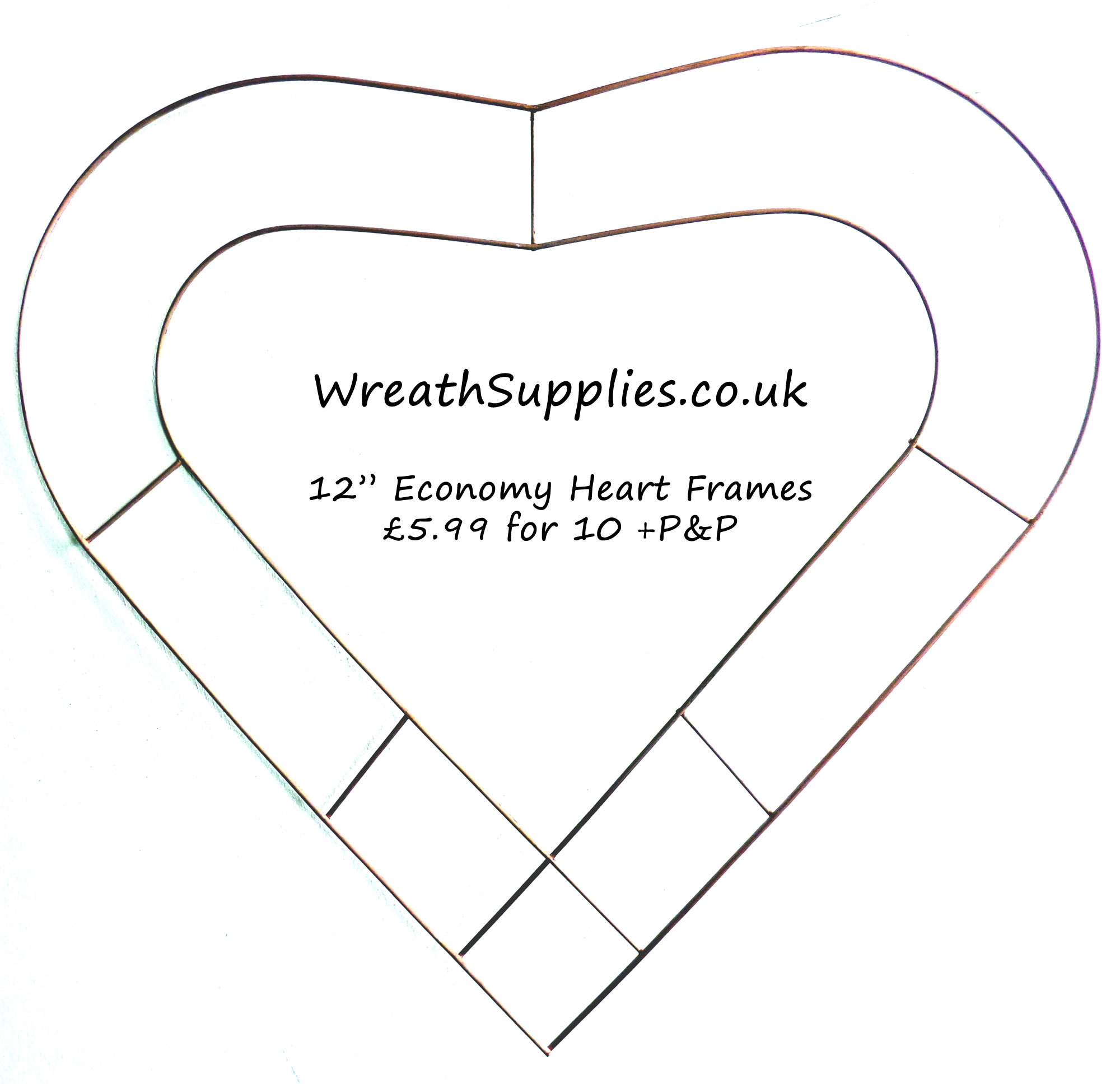 12 inch heart frame small wire heart – Rustical