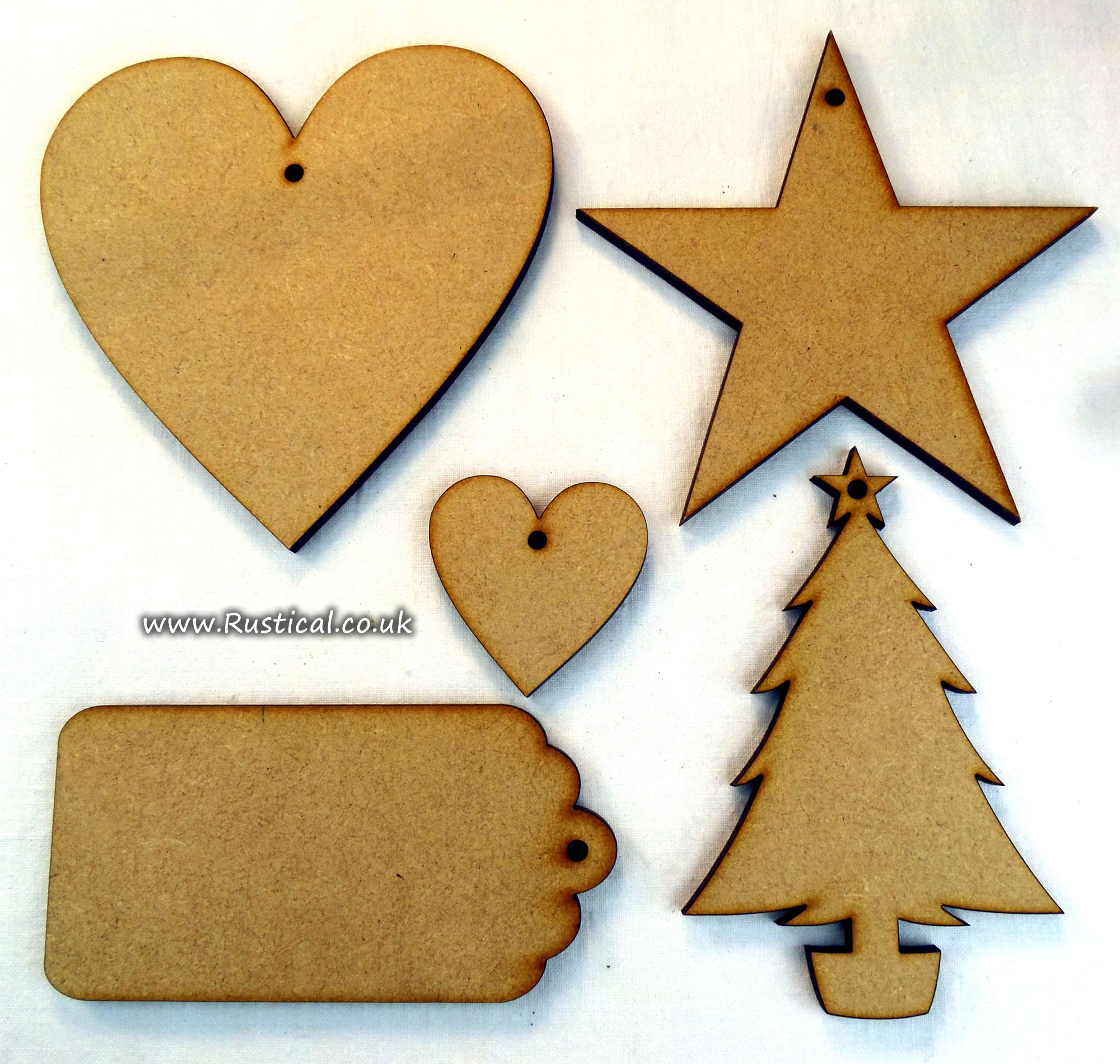 mdf shapes for craft projects or shop price tags