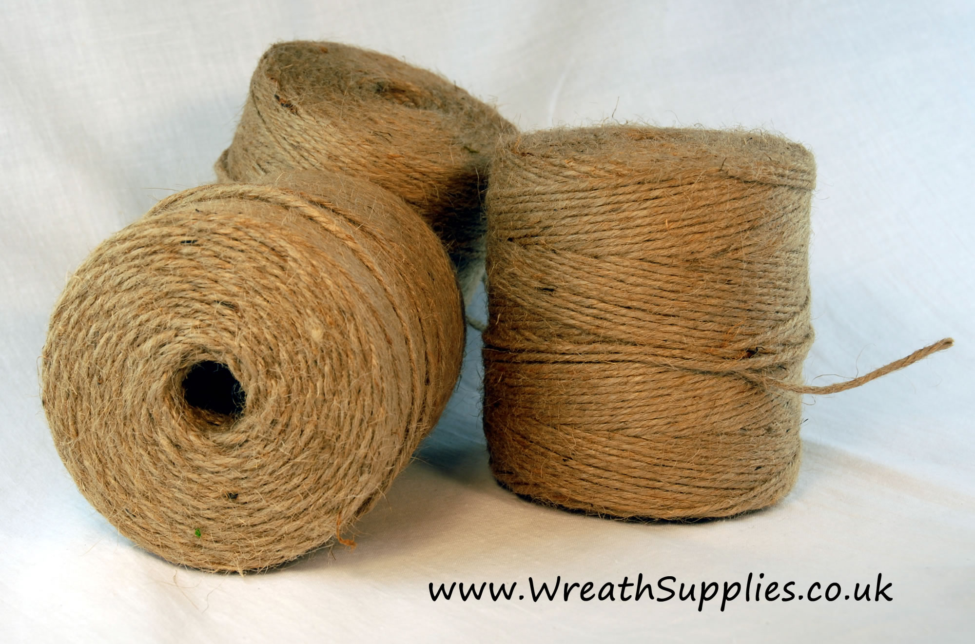 Natural brown jute twine