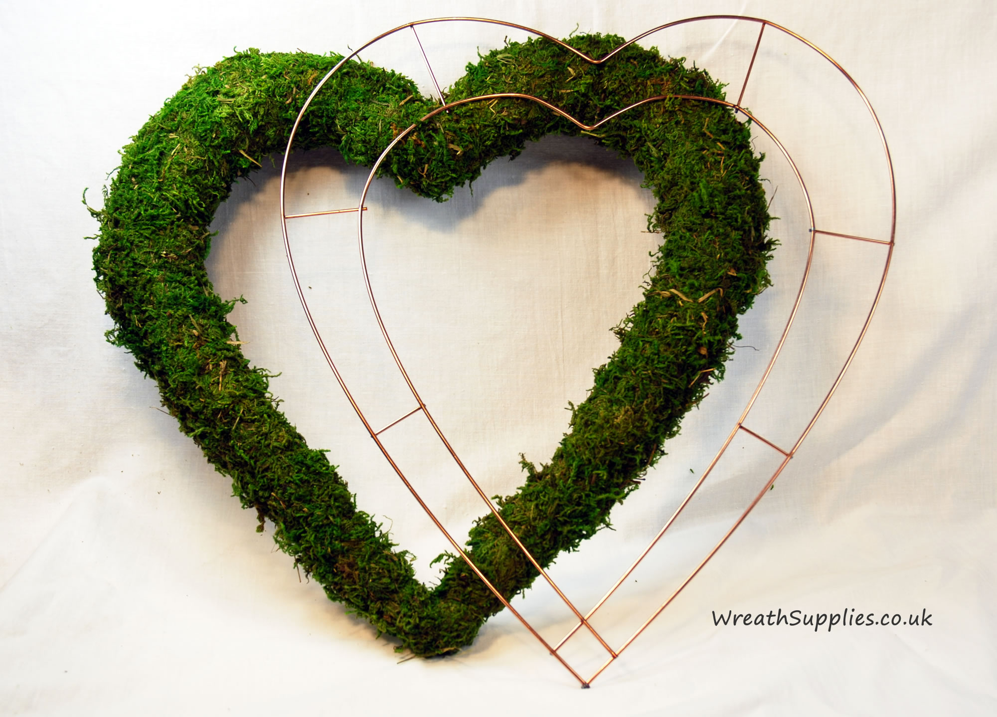 Copper coated metal wire heart frames