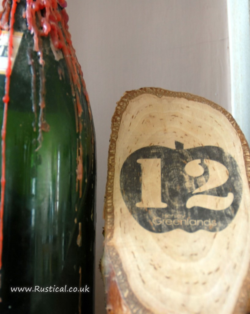 Rustic table number sample for Henley Greenlands