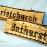 Wedding table names made on logs