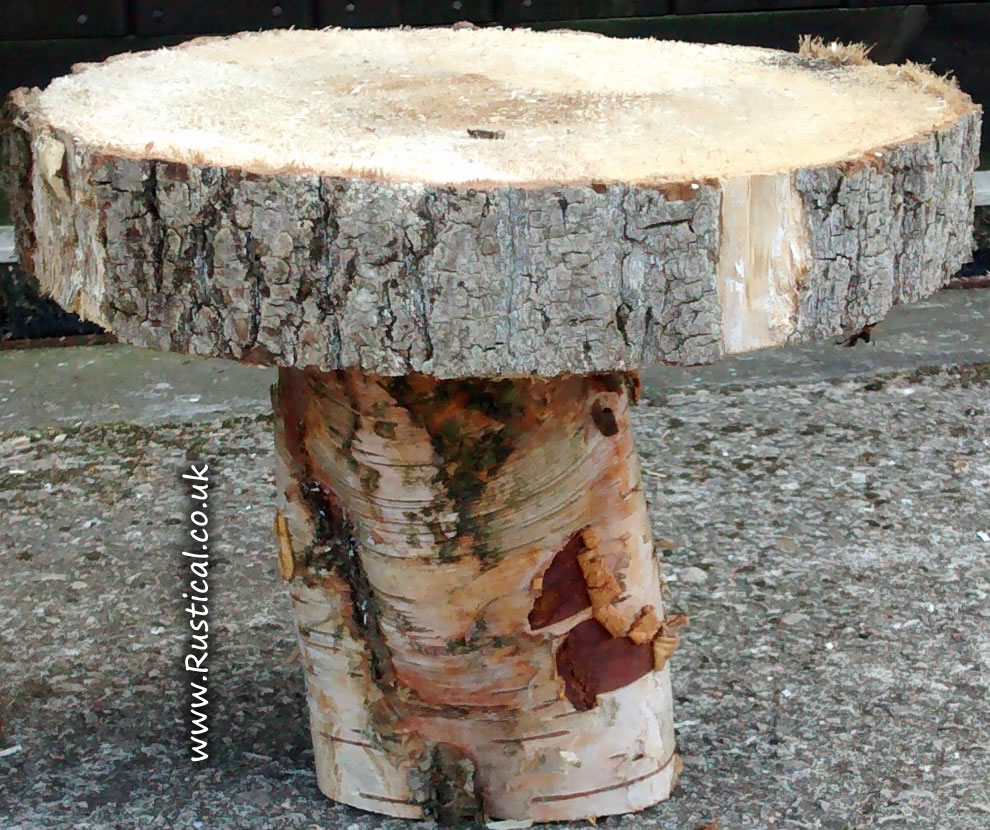 Rustic wooden rings for cake stand