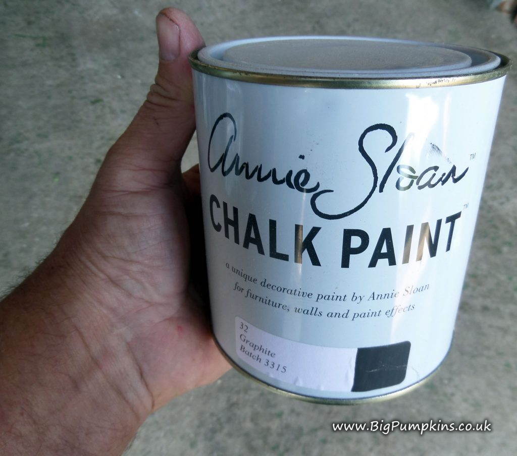 A tin of Annie Sloan Graphite Chalk Paint