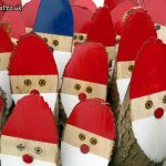 Painted Log Santa's