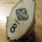 Rustic log pizza restaurant table numbers