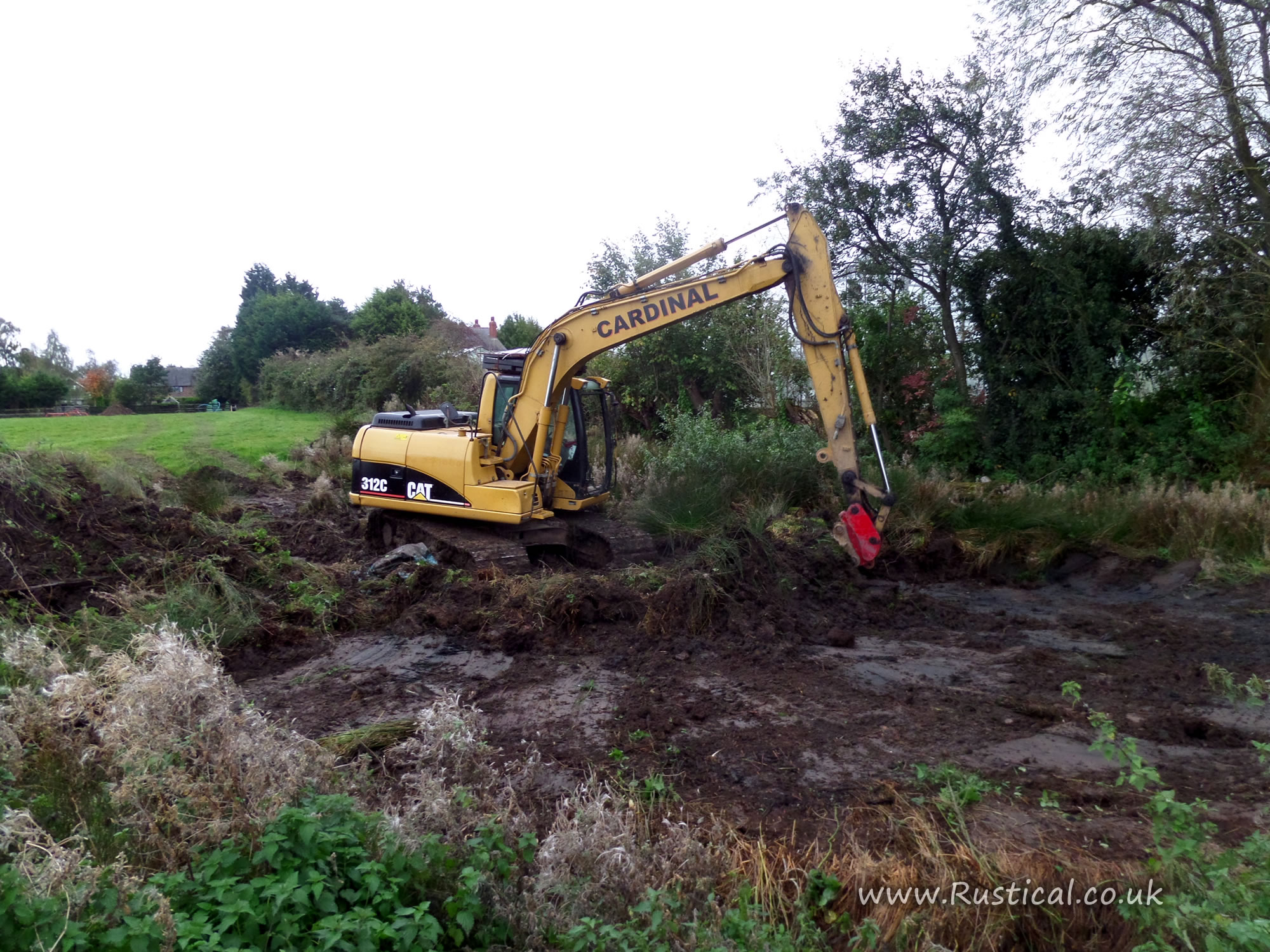 Cleaning a farm pond rustical for Farm pond maintenance