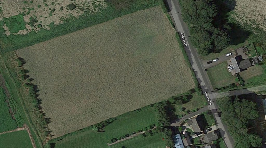 Satellite view of field for sale in Banks near Southport