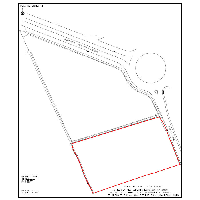 Land for sale, Gravel Lane, Banks near Southport
