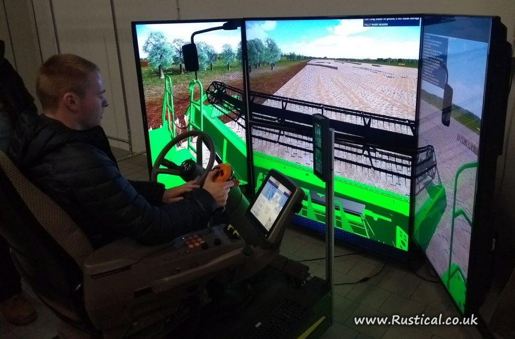 John Deere combine simulator