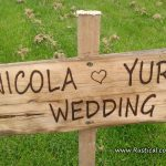 Rustic Wedding Sign for Nicola and Yuri