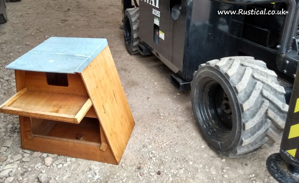 Barn owl nest box before fitting